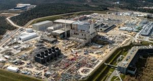 ITER construction site in Provence in the south of France