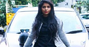 Madhumitha learning driving