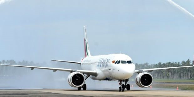 airbus a320 aircraft of srilankan airlines