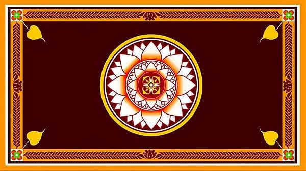 flag of sri lanka president gotabaya rajapakse E