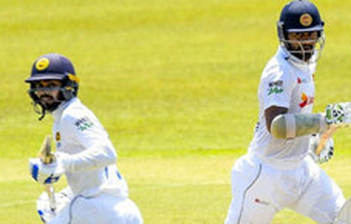 thumb Dimuth Karunaratne and Dhananjaya de Silva run between the wickets Sri Lanka vs Bangladesh 1st Test Pallekele